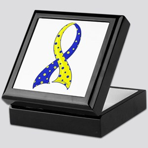 DS Polka Dot Ribbon Keepsake Box