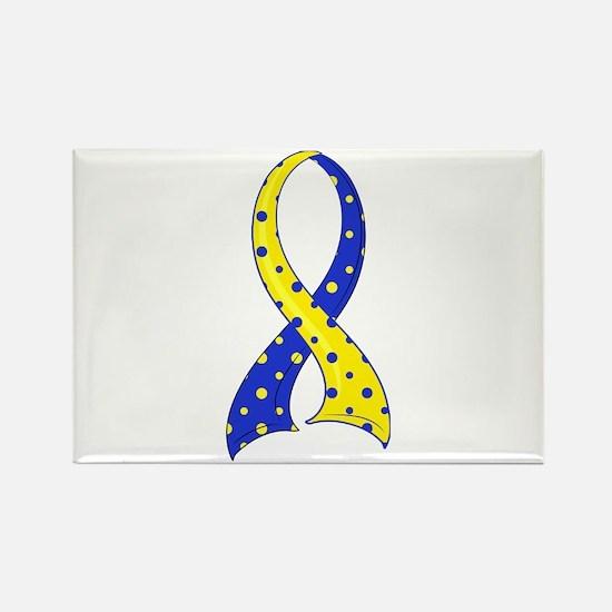 DS Polka Dot Ribbon Rectangle Magnet (100 pack)