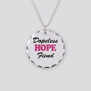Dopeless Hope Fiend Necklace Circle Charm