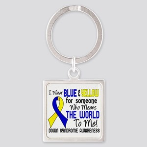 DS Means World to Me 2 Square Keychain