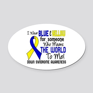 DS Means World to Me 2 Oval Car Magnet