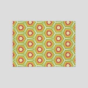 Retro Pattern 5'x7'Area Rug