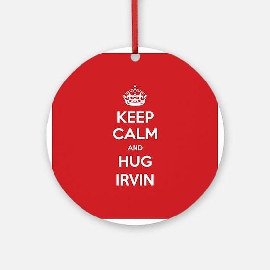 Hug Irvin Ornament (Round)