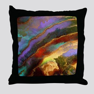 Abalone Sunset Throw Pillow