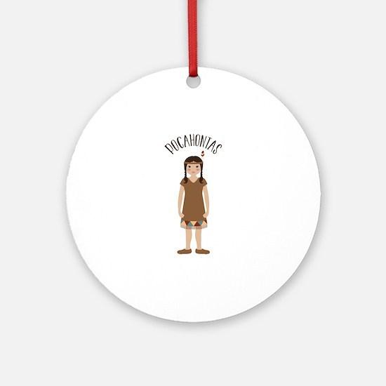 Pocahontas Ornament (Round)