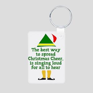 Christmas Cheer Aluminum Photo Keychain