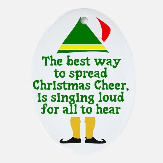 Christmas Cheer Oval Ornament