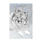 Keeshond (Beth) Mini Poster Print