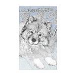 Keeshond (Beth) Sticker (Rectangle)