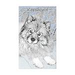 Keeshond (Beth) Sticker (Rectangle 10 pk)