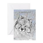 Keeshond (Beth) Greeting Card