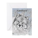 Keeshond (Beth) Greeting Cards (Pk of 10)