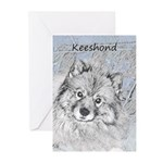 Keeshond (Beth) Greeting Cards (Pk of 20)