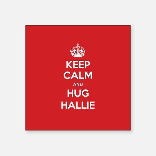Hug Hallie Sticker