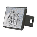 Keeshond (Beth) Rectangular Hitch Cover
