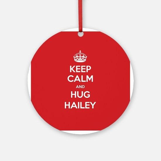Hug Hailey Ornament (Round)