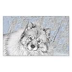 Keeshond (Beth) Sticker (Rectangle 50 pk)