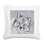Keeshond (Beth) Square Canvas Pillow