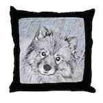 Keeshond (Beth) Throw Pillow