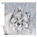 Keeshond (Beth) Shower Curtain