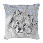 Keeshond (Beth) Woven Throw Pillow