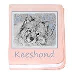 Keeshond (Beth) baby blanket