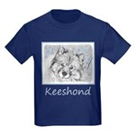 Keeshond (Beth) Kids Dark T-Shirt