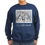 Keeshond (Beth) Sweatshirt (dark)