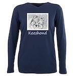 Keeshond (Beth) Plus Size Long Sleeve Tee