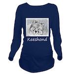 Keeshond (Beth) Long Sleeve Maternity T-Shirt