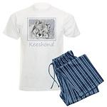 Keeshond (Beth) Men's Light Pajamas