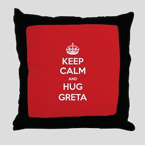 Hug Greta Throw Pillow