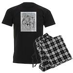 Keeshond (Beth) Men's Dark Pajamas