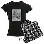 Keeshond (Beth) Women's Dark Pajamas