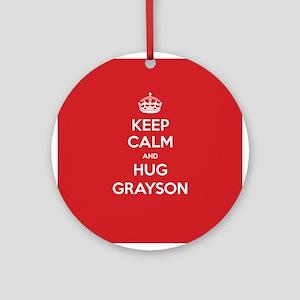 Hug Grayson Ornament (Round)