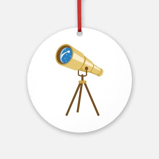 Stargazer Portable Telescope Ornament (Round)