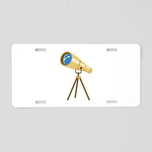 Stargazer Portable Telescope Aluminum License Plat