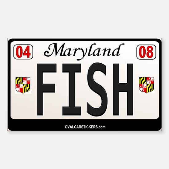 Maryland License Plate Sticker - FISH