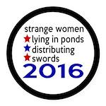 Distributing Swords 2016 Round Car Magnet