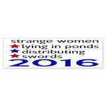 Distributing Swords 2016 Sticker (Bumper)