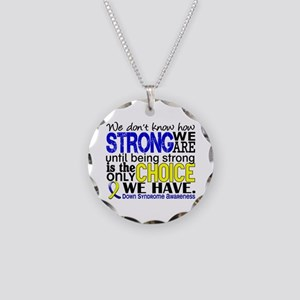 DS How Strong We Are Necklace Circle Charm