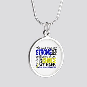 DS How Strong We Are Silver Round Necklace