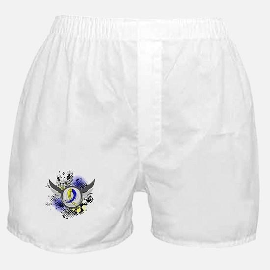 DS Grunge Ribbon Wings Boxer Shorts