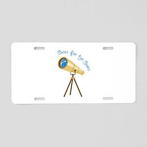 Shoot for the Stars Aluminum License Plate