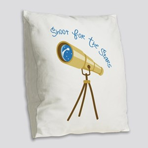 Shoot for the Stars Burlap Throw Pillow