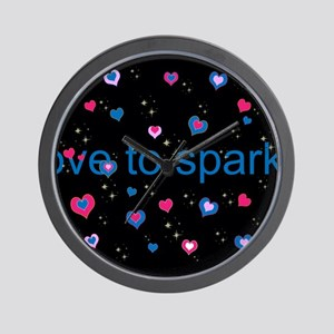 Cute Girly LOVE TO SPARKLE! Wall Clock