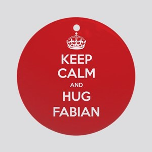 Hug Fabian Ornament (Round)