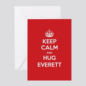Hug Everett Greeting Cards