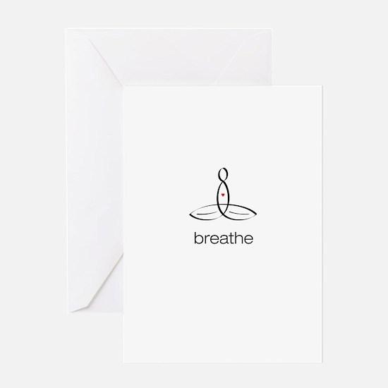 Meditator - Breathe - Greeting Card