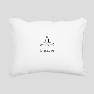 Meditator - Breathe - Rectangular Canvas Pillow